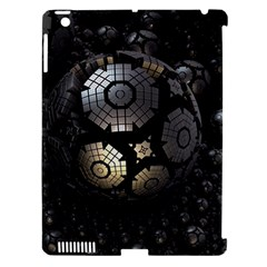 Fractal Sphere Steel 3d Structures  Apple iPad 3/4 Hardshell Case (Compatible with Smart Cover)