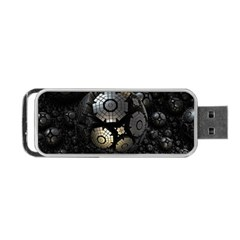 Fractal Sphere Steel 3d Structures  Portable USB Flash (Two Sides)