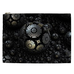 Fractal Sphere Steel 3d Structures  Cosmetic Bag (XXL)