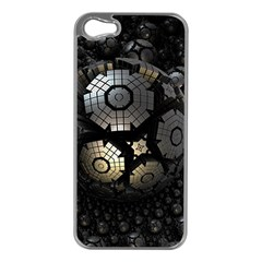 Fractal Sphere Steel 3d Structures  Apple iPhone 5 Case (Silver)