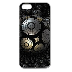 Fractal Sphere Steel 3d Structures  Apple Seamless iPhone 5 Case (Clear)