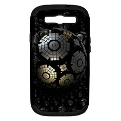 Fractal Sphere Steel 3d Structures  Samsung Galaxy S III Hardshell Case (PC+Silicone)