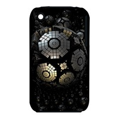 Fractal Sphere Steel 3d Structures  Apple iPhone 3G/3GS Hardshell Case (PC+Silicone)