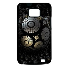 Fractal Sphere Steel 3d Structures  Samsung Galaxy S II i9100 Hardshell Case (PC+Silicone)