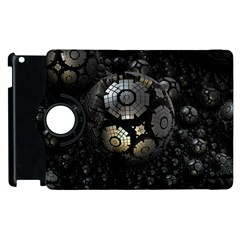 Fractal Sphere Steel 3d Structures  Apple iPad 3/4 Flip 360 Case
