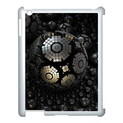 Fractal Sphere Steel 3d Structures  Apple iPad 3/4 Case (White)