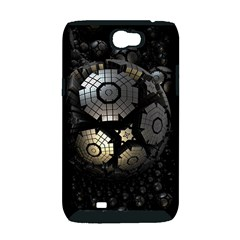 Fractal Sphere Steel 3d Structures  Samsung Galaxy Note 2 Hardshell Case (PC+Silicone)
