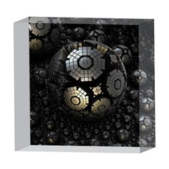 Fractal Sphere Steel 3d Structures  5  x 5  Acrylic Photo Blocks