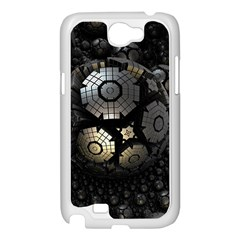 Fractal Sphere Steel 3d Structures  Samsung Galaxy Note 2 Case (White)