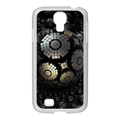 Fractal Sphere Steel 3d Structures  Samsung GALAXY S4 I9500/ I9505 Case (White)