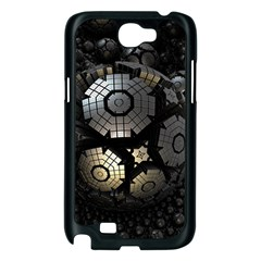 Fractal Sphere Steel 3d Structures  Samsung Galaxy Note 2 Case (Black)