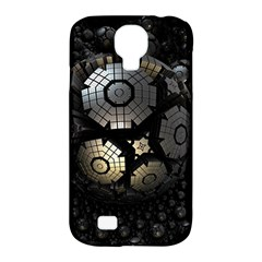 Fractal Sphere Steel 3d Structures  Samsung Galaxy S4 Classic Hardshell Case (PC+Silicone)