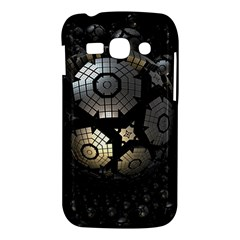 Fractal Sphere Steel 3d Structures  Samsung Galaxy Ace 3 S7272 Hardshell Case