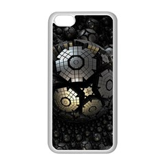 Fractal Sphere Steel 3d Structures  Apple iPhone 5C Seamless Case (White)