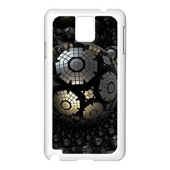 Fractal Sphere Steel 3d Structures  Samsung Galaxy Note 3 N9005 Case (White)