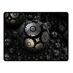 Fractal Sphere Steel 3d Structures  Double Sided Fleece Blanket (Small)