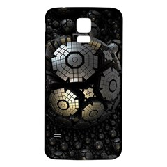 Fractal Sphere Steel 3d Structures  Samsung Galaxy S5 Back Case (White)