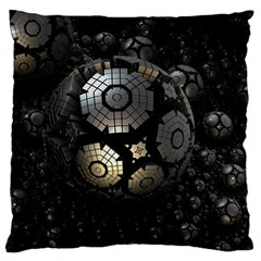 Fractal Sphere Steel 3d Structures  Standard Flano Cushion Case (One Side)