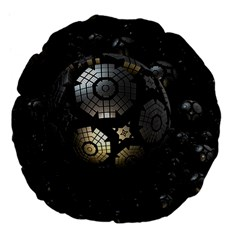 Fractal Sphere Steel 3d Structures  Large 18  Premium Flano Round Cushions