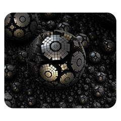 Fractal Sphere Steel 3d Structures  Double Sided Flano Blanket (Small)