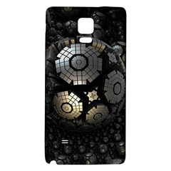 Fractal Sphere Steel 3d Structures  Galaxy Note 4 Back Case