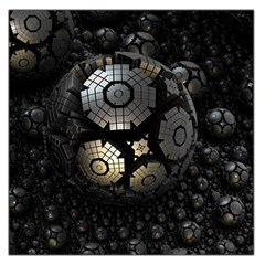 Fractal Sphere Steel 3d Structures  Large Satin Scarf (Square)