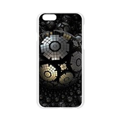 Fractal Sphere Steel 3d Structures  Apple Seamless iPhone 6/6S Case (Transparent)