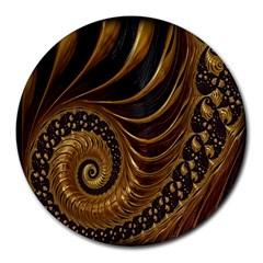 Fractal Spiral Endless Mathematics Round Mousepads