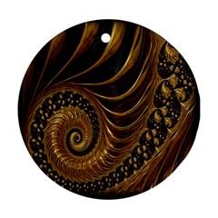 Fractal Spiral Endless Mathematics Ornament (Round)