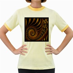 Fractal Spiral Endless Mathematics Women s Fitted Ringer T-Shirts