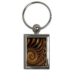 Fractal Spiral Endless Mathematics Key Chains (Rectangle)