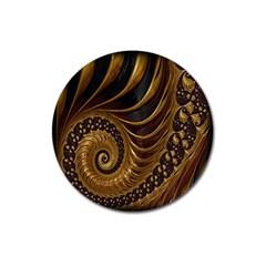 Fractal Spiral Endless Mathematics Magnet 3  (Round)