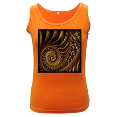 Fractal Spiral Endless Mathematics Women s Dark Tank Top