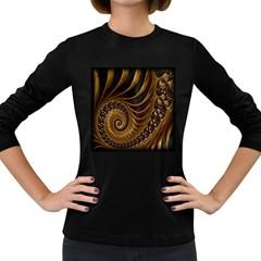 Fractal Spiral Endless Mathematics Women s Long Sleeve Dark T-Shirts