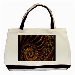 Fractal Spiral Endless Mathematics Basic Tote Bag