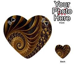 Fractal Spiral Endless Mathematics Playing Cards 54 (Heart)