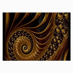 Fractal Spiral Endless Mathematics Large Glasses Cloth