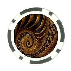 Fractal Spiral Endless Mathematics Poker Chip Card Guards