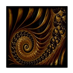 Fractal Spiral Endless Mathematics Face Towel