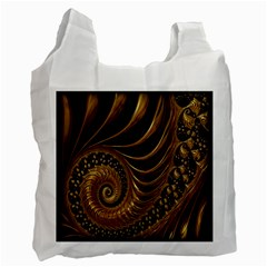 Fractal Spiral Endless Mathematics Recycle Bag (Two Side)