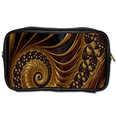 Fractal Spiral Endless Mathematics Toiletries Bags 2-Side