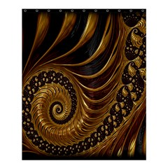 Fractal Spiral Endless Mathematics Shower Curtain 60  x 72  (Medium)