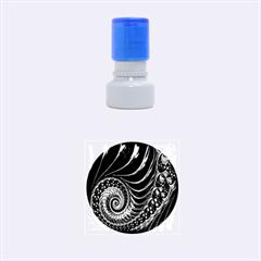 Fractal Spiral Endless Mathematics Rubber Round Stamps (Small)
