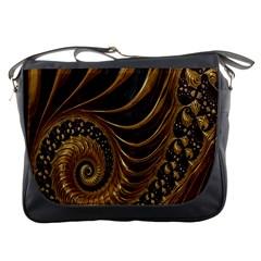 Fractal Spiral Endless Mathematics Messenger Bags