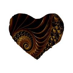 Fractal Spiral Endless Mathematics Standard 16  Premium Heart Shape Cushions