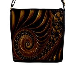 Fractal Spiral Endless Mathematics Flap Messenger Bag (L)