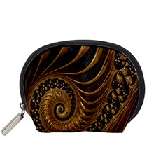 Fractal Spiral Endless Mathematics Accessory Pouches (Small)