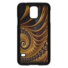 Fractal Spiral Endless Mathematics Samsung Galaxy S5 Case (Black)
