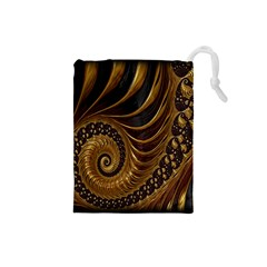 Fractal Spiral Endless Mathematics Drawstring Pouches (Small)