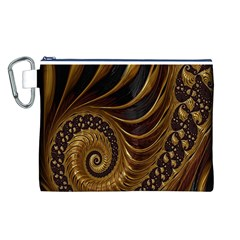Fractal Spiral Endless Mathematics Canvas Cosmetic Bag (L)